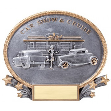 Car Cruise In Resin Plate