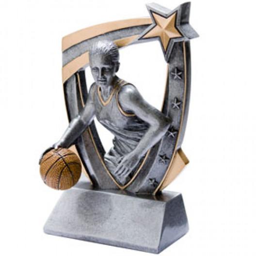 3-D Star Resin - Basketball, Female