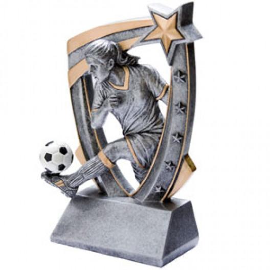3-D Star Resin - Soccer, Female