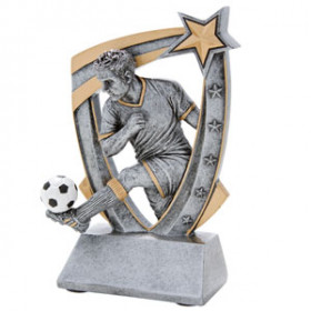 3-D Star Resin - Soccer, Male