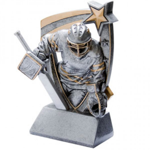3-D Star Resin - Hockey Goalie