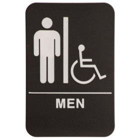ADA Male Restroom Sign