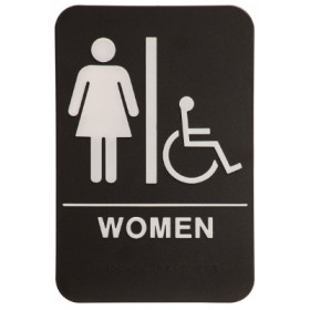 ADA Female Restroom Sign