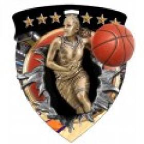 Color Shield Medal - Female Basketball