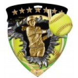 Color Shield Medal - Softball