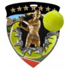 Color Shield Medal - Female Tennis