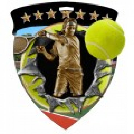 Color Shield Medal - Male Tennis