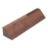 Walnut Desk Wedge with Card Holder - 10""