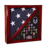 "Rosewood Piano Finish Flag Case - 17.75"""