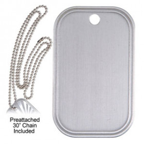 Dog Tag Medal & Chain - Blank