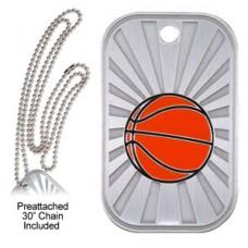 Dog Tag & Chain - Basketball