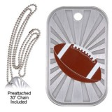 Dog Tag & Chain - Football