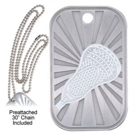 Dog Tag & Chain - Lacrosse