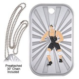 Dog Tag & Chain - Wrestling