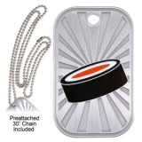 Dog Tag & Chain - Hockey