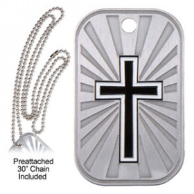 Dog Tag & Chain - Cross