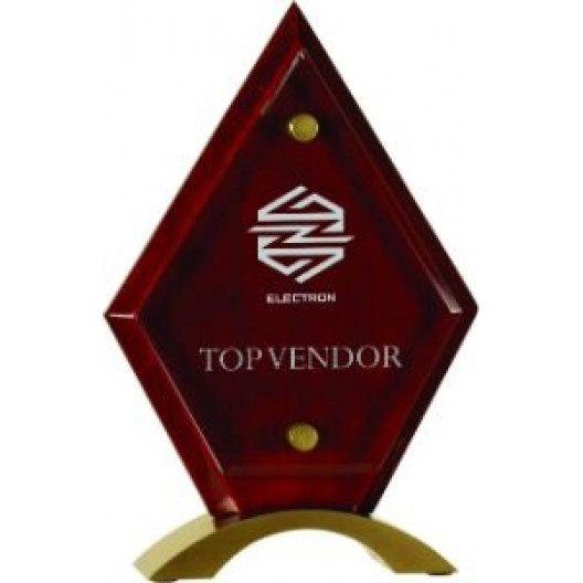 Diamond Acrylic Ruby Rosewood Stand Up