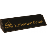 Leatherette Engravable Desk Wedge - 8.5""