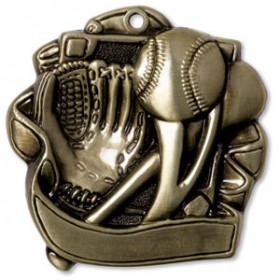 """Baseball 2.5"""" Medal"""