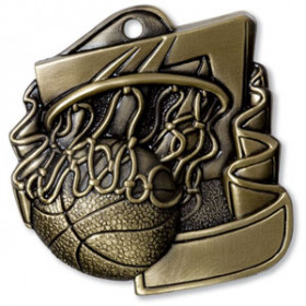 "Basketball 2.5"" Medal"