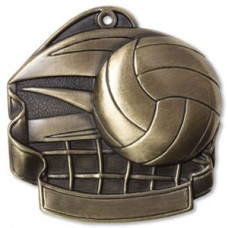 "Volleyball 2.5"" Medal"