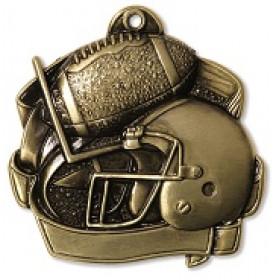 """Football 2.5"""" Medal"""