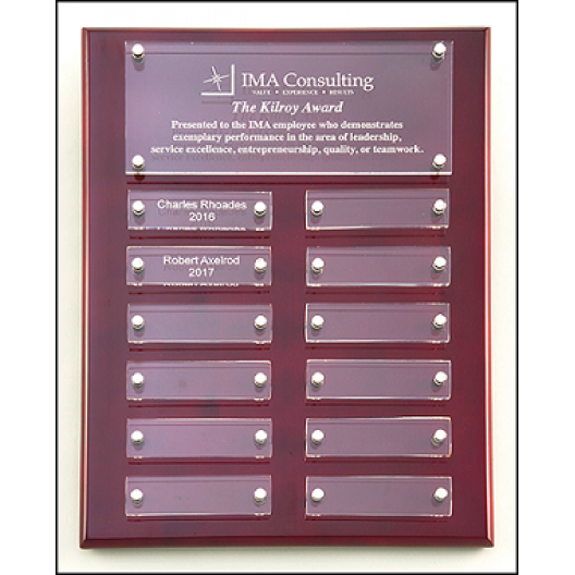 """Floating Acrylic Perpetual Plaque - 9"""" x 12"""""""