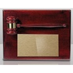 Ruby Piano Gavel Plaque - 9x12