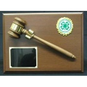 Royal Wood Gavel Plaque - 9x12