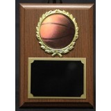 "Basketball Plaque with Wreath - 4"" x 6"""