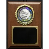 """Golf Plaque with Wreath -4"""" x 6"""""""