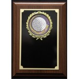 """Golf Plaque with Wreath - 5"""" x 7"""""""