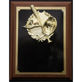"Baseball Plaque with Wreath - 7"" x 9"""