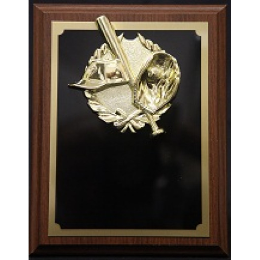 """Baseball Plaque with Wreath - 7"""" x 9"""""""