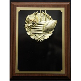 "Plaque with Gold Football Mount - 7"" x 9"""