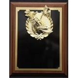 "Plaque with Gold Golf Mount - 7"" x 9"""