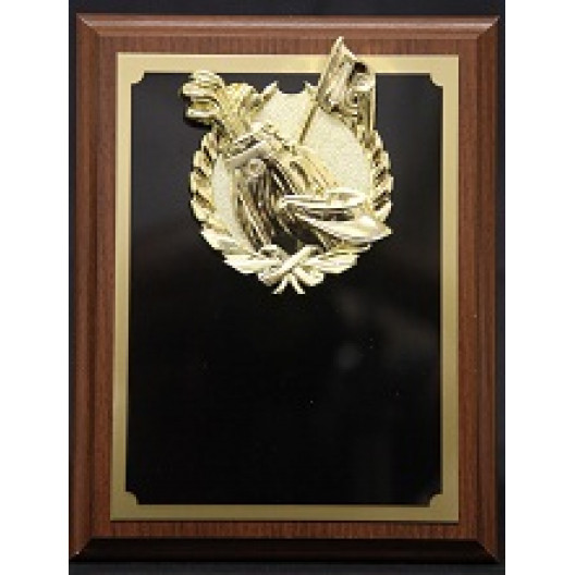"""Plaque with Gold Golf Mount - 7"""" x 9"""""""