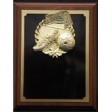 "Plaque with Gold Soccer Mount - 7"" x 9"""