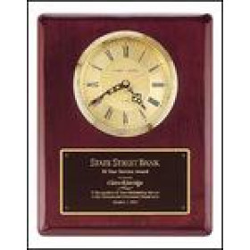 Rosewood Plaque with Gold Clock Insert