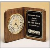 American Walnut Book Clock