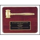 Ruby Piano Gavel Plaque with Metal Gavel