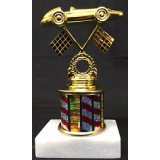"""Pinewood Derby Figure on Marble Base - 1"""" Riser"""