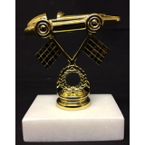 Pinewood Derby Figure on Marble Base