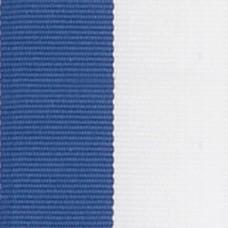 Neck Ribbon - Blue & White