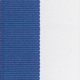 Neck Ribbon - Blue & White