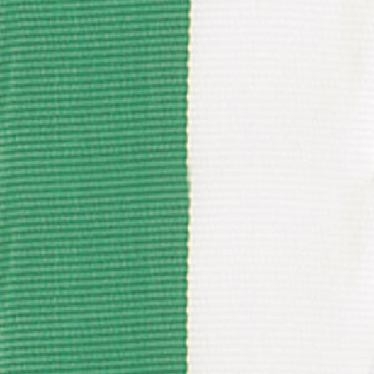 Neck Ribbon - Green & White