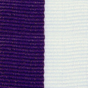 Neck Ribbon - Purple & White