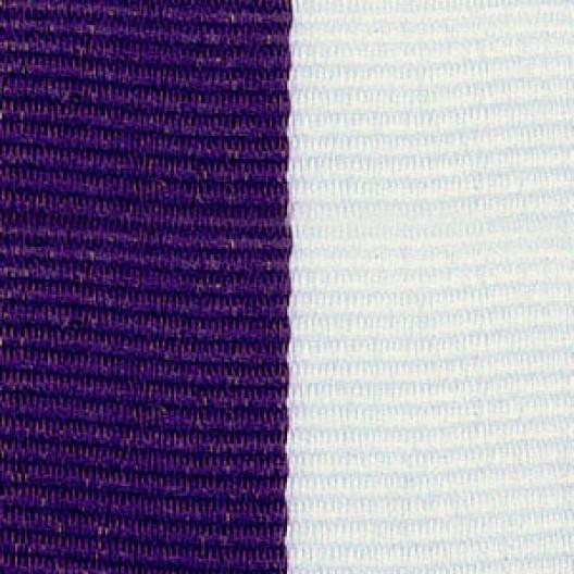 Neck Ribbon - Purple & White