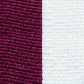 Neck Ribbon - Maroon & White