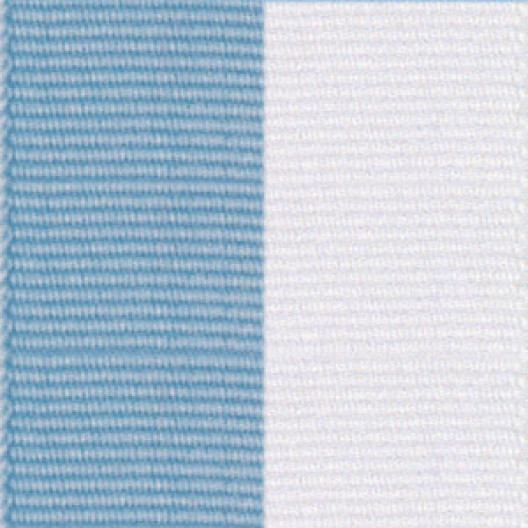 Neck Ribbon - Light Blue & White